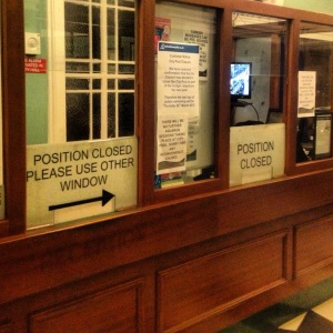 Reception Area closed Newcastle City Pool & Turkish Baths