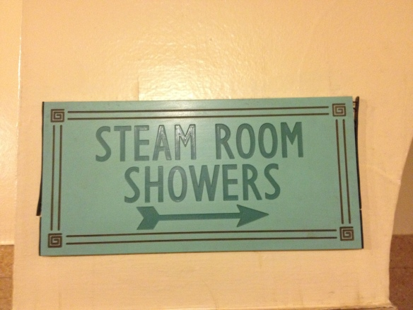 Steam Room Sign Newcastle Turkish Baths